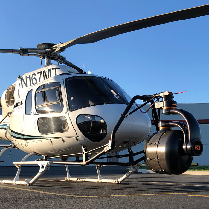 featured in the photo is the Shotover K1, camera system equipped with a 6 Axis gyro stabilized platform.